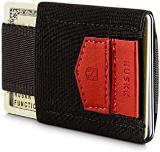 HUSKK Minimalist Slim Wallet - 10 Card Holders - Cash, Coins or Keys