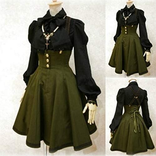 Genbz Steampunk - Vestido de lolita militar para mujer, estilo ...