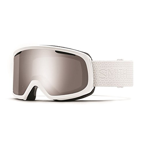 Smith Optics Unisex Riot Goggle White Mosaic Frame/Chromapop Sun Platinum Mirror/Yellow One Size - Frame Platinum Mirror Lens