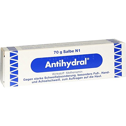 Antihydral Cream 70g Natural Treatment of Hyperhidrosis Excessive Sweating for Climbers