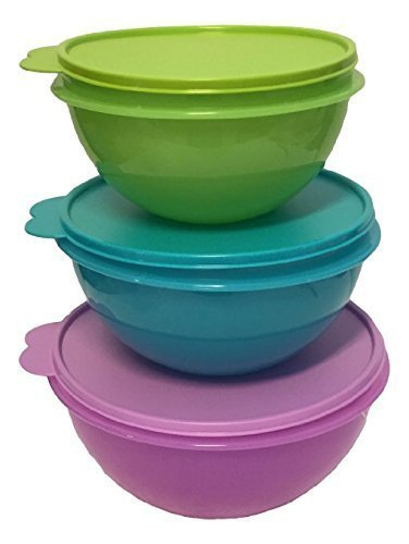 New Tupperware Wonderlier Bowl Set 3 in New Colors (Large)