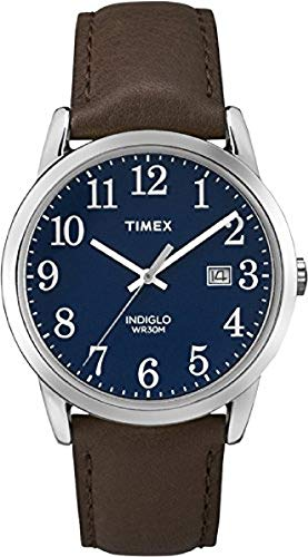 Timex Men's Easy Reader 38 mm Leather Strap Watch TW2P75900