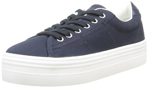 Navy Bleu Baskets Canvas No Basses White Name Plato Fox Femme xqqfT0PUw