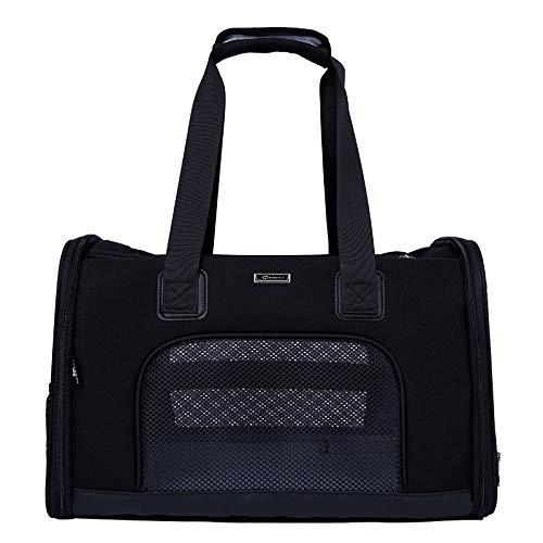Black JYTNB Pet Handbag Carrier, Pet Dogs Cats Carrier Airline Approved Travel Outdoor Bag Portable Dog Purse Soft Comfort Oxford Tote Handbag (47  31  30cm),Black