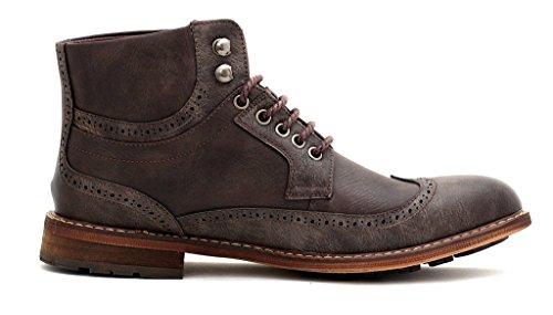 Hombre Casual Botines Estilo Motero Con Cordones Inteligentes Vestido De Fiesta zapatos número GB Café