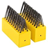 "Wolf Garten ""FB-ME"" Weeding Brush Heads Set, Yellow/Black, 9x20x10 cm"