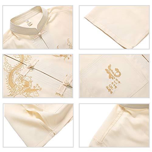 Veste Âgés Tai Chi Uniforme Wing Vêtements Les De Beige Martiaux Traditionnel Formation Shaolin Meijunter Arts Costume Chun Kung Hommes Chinois Fu qaYxKd