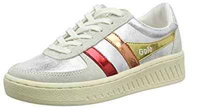 Gola Grandslam Shimmer Flare Womens Fashion Trainers in Silver Multicolour - 6 US