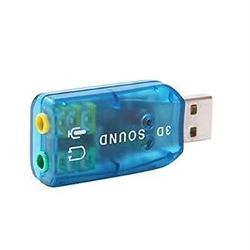 Tarjeta de Sonido USB de 5.1 Canales - (Azul): Amazon.es ...
