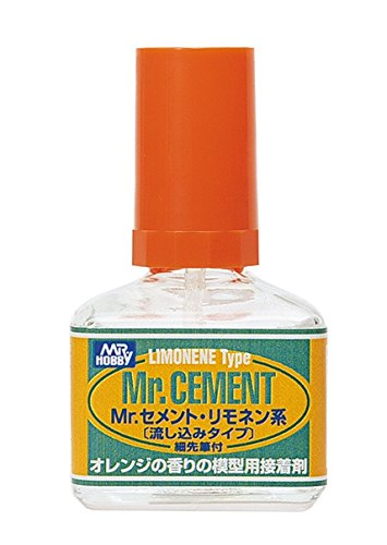 Mr. Cement Limonene Bottle NET.40ml Gundam Hobby (Brush Type) by Mr. Hobby