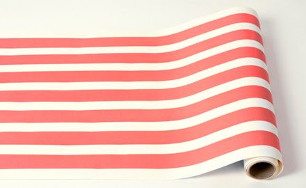 Red Classic Stripe Paper Table Runner 25ft American