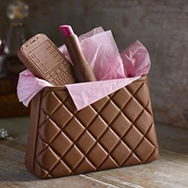 4747da845d Choc on Choc Chocolate Handbag (Plus Chocolate Lipstick   Chocolate Mobile)  250g  Amazon.co.uk  Grocery