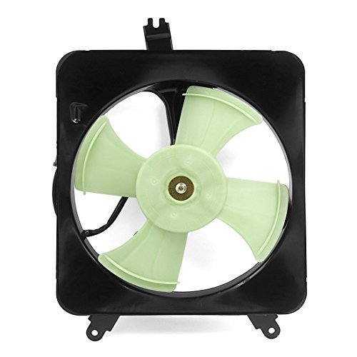 DealMux Radiator/Condenser Cooling Fan Assembly for Honda Accord 90-93/ Prelude 92-96 38605PTO003T 38616PT0003 38511PTO003 HO3113101
