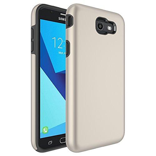 Galaxy J7 V Case,Galaxy J7 Prime Case,J7 Perx Case,J7V Case,J7 Sky Pro Case,Galaxy Halo Case, All Around Protection Hybrid Dual Layer Armor Phone Case Cover for Samsung Galaxy J7 2017, Gold