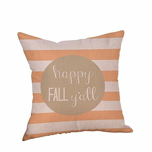 Halloween Adornment KIKOY Pillowcases Linen Letter Printing Sofa Cushion Cover (J) -