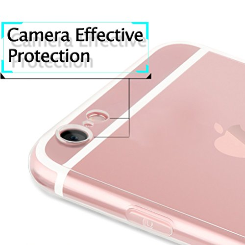 Funda iPhone 7 Plus / iPhone 8 Plus Funda Protectora Extra Fina [Con Protector de Pantalla de Vidrio Templado], Blossom01 Funda Ultra Fina de Gel de Silicona TPU Con Dibujo Animado Lindo Para Apple iP Jirafa