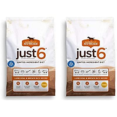 Rachael Ray Nutrish Just 6 Limited Ingredient Natural Dry Dog Food (2 Pack, Limited Ingredient Diet Lamb Meal & Rice)