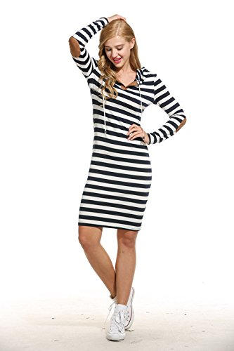 ANGVNS Casual Sleeve Striped Drawstring
