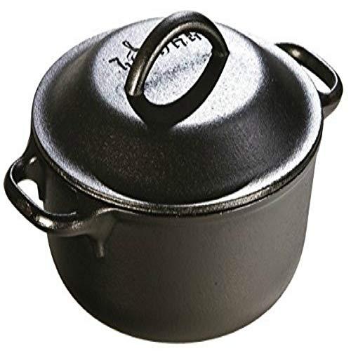 Invisible Gate Cast Iron Serving Pot, Pre-Seasoned, 2-Quart