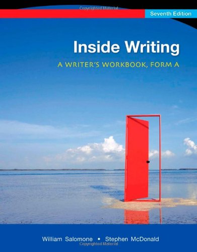 Inside Writing: A Writer's Workbook, Form A, 7th Edition