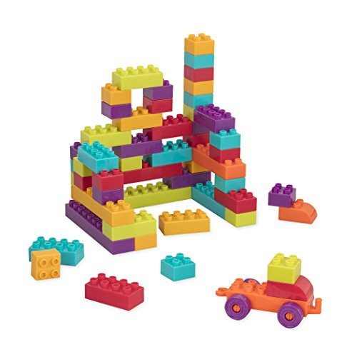 41Vojb oSGL - Battat - Locbloc Wagon - Building Toy Blocks for Toddlers (54 pieces)