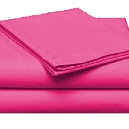 Twin XL Soft Microfiber Single Bed Sheet Set (Hot Pink)
