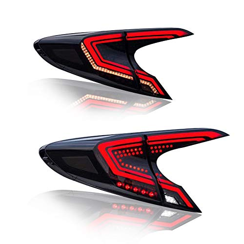 (New LED Taillights Assembly For Toyota C-HR 2018-2019 LED Rear Lamp Brake Reverse Light Rear Back Up Lamp DRL Car Tail lights,1 Years Warranty,1 Pair)