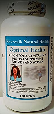 Optimal Health High Potency Multiple Vitamin & Mineral Supplement for Men and Women with Antioxidants Vitamin A, C, D, E, Selenium and Calcium Citrate. Now with methylfolate and Vitamin K2.