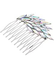 D DOLITY Crystal Hair Comb Bridal Hair Pin Hair Clip Sparkling Hair Fork for Women, Fit Your Hairstyles