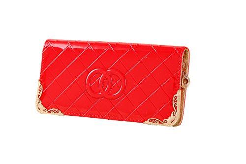75c98e6229e07 Yinglite portemonnaie damen Brieftasche Damen Geldbörsen Damen Geldbeutel  Lange Damengeldbörse (B-Red)  Amazon.de  Koffer