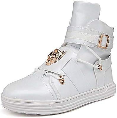 GLSHI Hombres Cima Mas Alta Zapatillas 2018 Otoño Invierno Moda Tendencia Patineta Zapatos Ligero para Caminar Zapatos