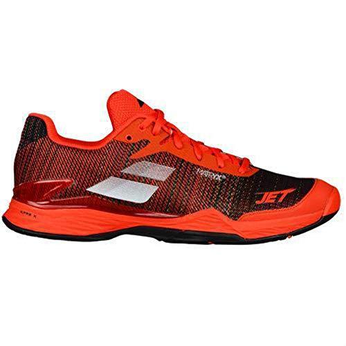 Babolat Men's Jet Mach II All Court Tennis Shoes, Orange.com/Black, 12 D(M) US Babolat 12 Team Line