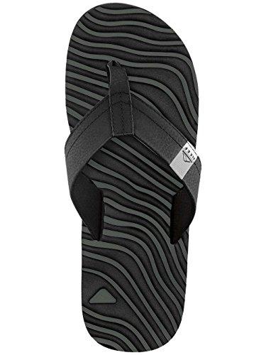 Reef Thermoslice, Sandalias Flip-Flop para Hombre Negro (Black / White)