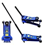 ESKALEX>>3.5 Ton Hydraulic Floor Jack Double Plunger Low Profile Light Weight and Long Frame Heavy-Duty Steel Alloy Construction for Strength and Durability Double Plunger
