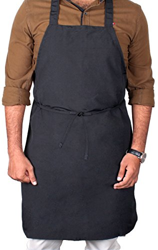 Utopia Kitchen Professional Bib Apron ( 12 pack, 32 x 28 inches, Black ) - Liquid drop resistant, Durable, String Adjustable, Machine Washable, Comfortable and Easy Care Aprons. (Black) by Utopia Kitchen (Image #2)
