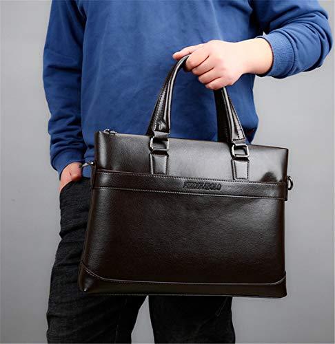 Mature Bags Hommes Sacoche Tablette Handbag Simple Loisirs Bandoulière Cuir Shoulder En Marron À Grand Affaire Sac Skitor Vintage 7U4vn