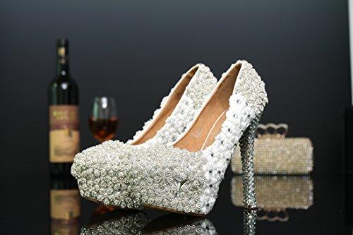 14cm Mujer Plataforma White Heel Miyoopark wBzgSaqtO