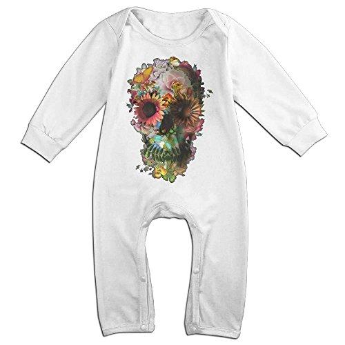 Magic Man Costume Adventure Time (Boy & Girl Infants Skull Long Sleeve Romper Climb Clothes 6 M White)