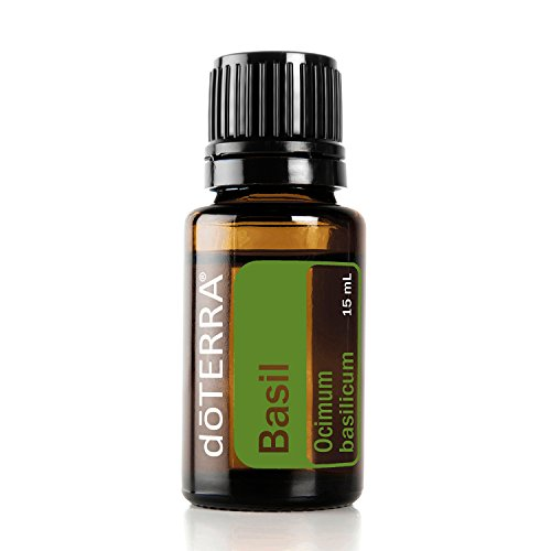 doTERRA - Basil Essential Oil - Supports Clean, Clear, and Healthy Skin, Cardiovascular Health, Promotes Mental Alertness and Lessens Anxious Feelings; for Diffusion, Internal, or Topical Use - 15 ml