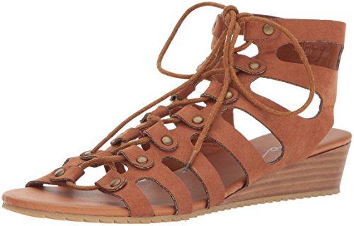 Coolway Womens Caldas Wedge Sandal Cognac