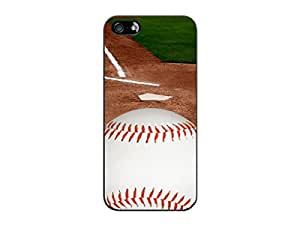 Cellet Black Proguard Case with Baseball 02 for Apple iPhone 5