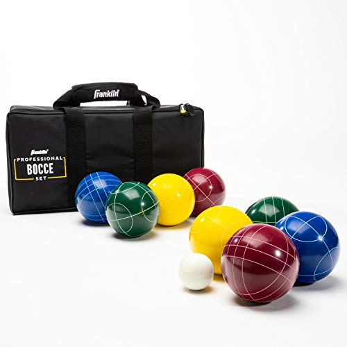 Franklin Sports Bocce Set - 8 All Weather Bocce Balls, 1 Pallino, and Deluxe Carry Bag - Beach, Backyard, or Outdoor Party Game - Professional Set