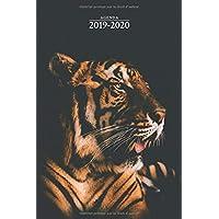 Agenda 2019-2020: Agenda Scolaire de Juillet 2019 à Juillet 2020, Semainier simple & graphique, série animaux, tigre