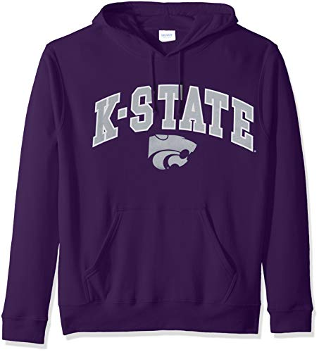 Elite Fan Shop NCAA Men's Kansas State Wildcats Hoodie Sweatshirt Team Color Arch Kansas State Wildcats Purple XX Large