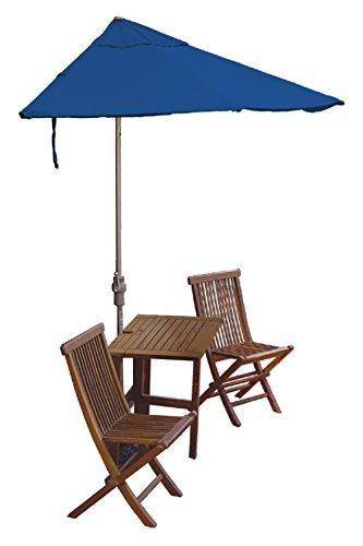 Blue Star Terrace Mates Villa Premium Table Set w/ 9'-Wid...