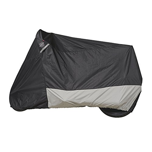 Double Tuff Boots - Dowco Guardian 51223-00 WeatherAll Plus Indoor/Outdoor Waterproof Motorcycle Cover: Black, Cruiser