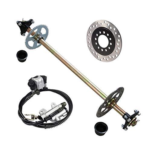 TDPRO Rear Axle Assembly Complete Wheel Hub Kit + Brake Assembly + Rear Brake for Quad ATV Buggy Go Kart