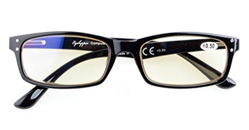 Anti Blue Rays,Reduce Eyestrain,UV Protection,Spring Hinges,Computer Reading Gaming Glasses Unisex