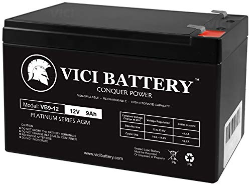 VICI Battery VB9-12 12V 9Ah Replacement Battery for APC Back-UPS ES 750 BE750BB Brand Product