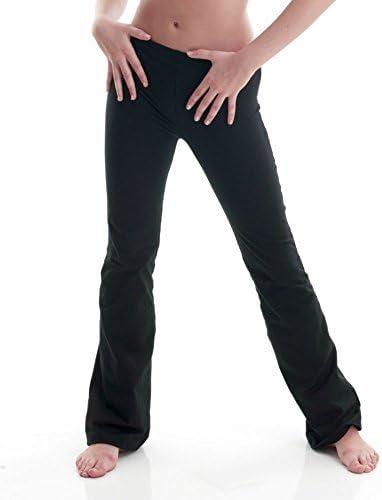 Ladies Girls Black Cotton Dance Jazz Pants Trousers By Katz Dancewear KJPC-2